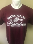 Maroon Retro Baseball Club Shirt